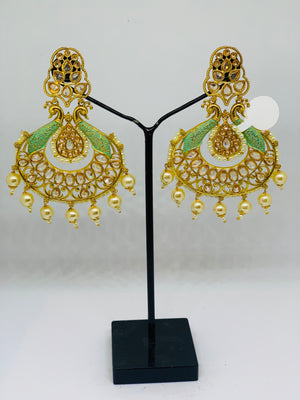 Meenakari earrings
