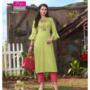 Two piece suit(Kurti with cigarette pants)
