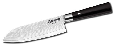 Boker Damast Black Vi Santoku Kitchen Knife