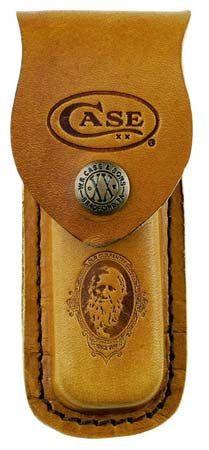 Case Cutlery Leather Sheath with Stamped Job Case Logo