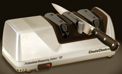 Chefs Choice Professional Sharpening Station 130, Brushed Metal