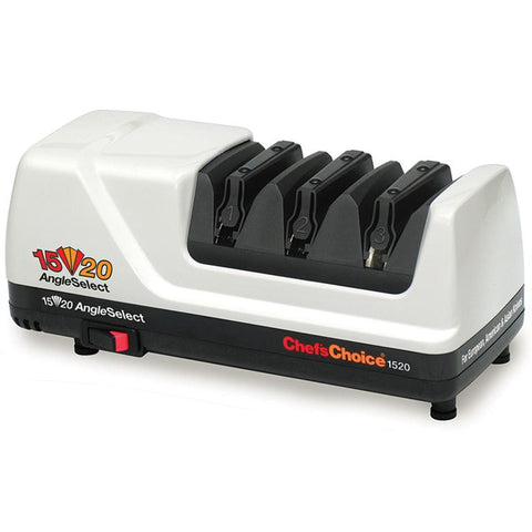 Chef's Choice Angle Select Electric Knife Sharpener Model 1520, White