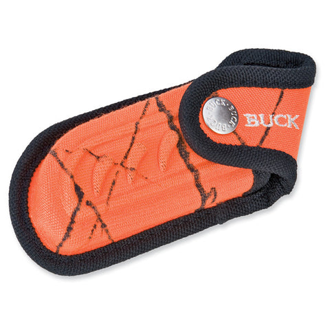 Buck Folding Omni Hunter, Blaze Camo Nylon Sheath