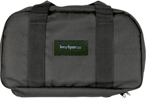 Kershaw Knives -Nylon Zipper Case, 18 Padded Knife Pockets, Black