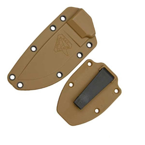 ESEE Knives ESEE-3 Molded Sheath with Clip Plate, Coyote Brown - ESEE-40CBC