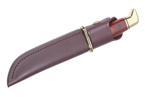 Buck Knives Rugged Burgundy Leather Sheath for Model 119 Special