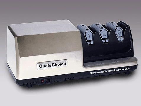 Chefs Choice Model 2100: Heavy-Duty Commercial Knife Sharpener: 3-Stage, Stainless-Steel