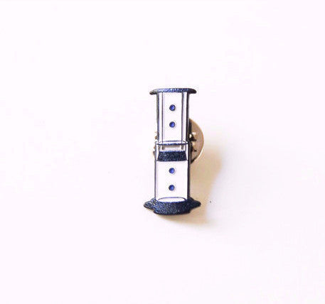 Aeropress Enamel Pin