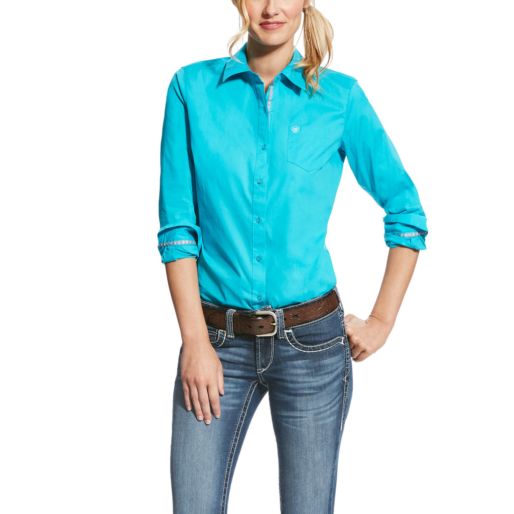 Women's Ariat Kirby Stretch Button Down Shirt #10022059X (Plus Size)