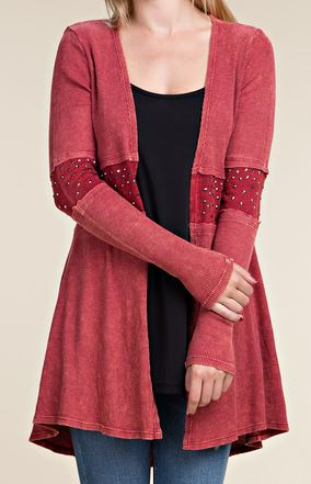 Women's Vocal Cardigan #13177C-RED