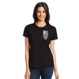 Women's Thin Red Line T-Shirt #TRL-WOM-BLACK