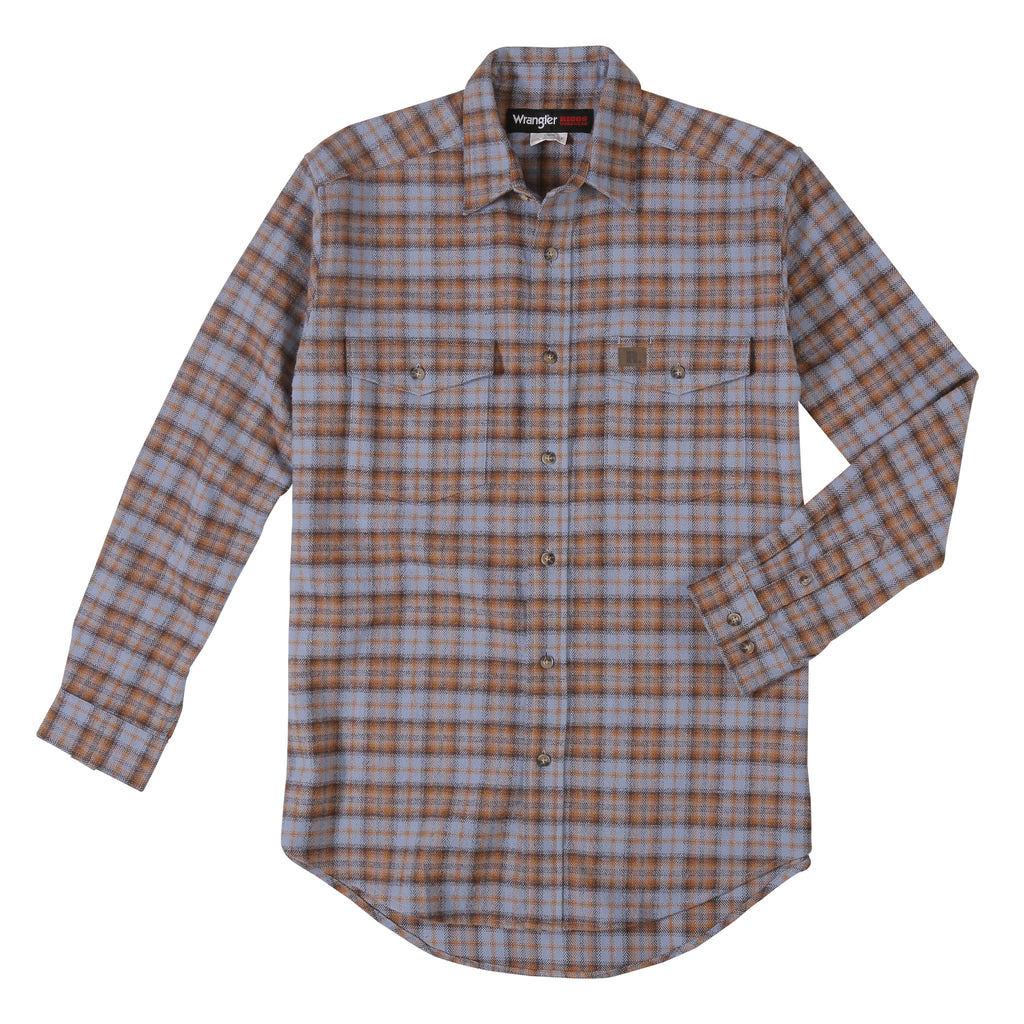 Men's Wrangler Riggs Flannel Snap Front Shirt #3W532BS