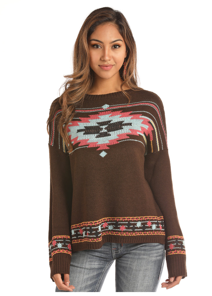 Women's Rock & Roll Cowgirl Sweater #46-2895