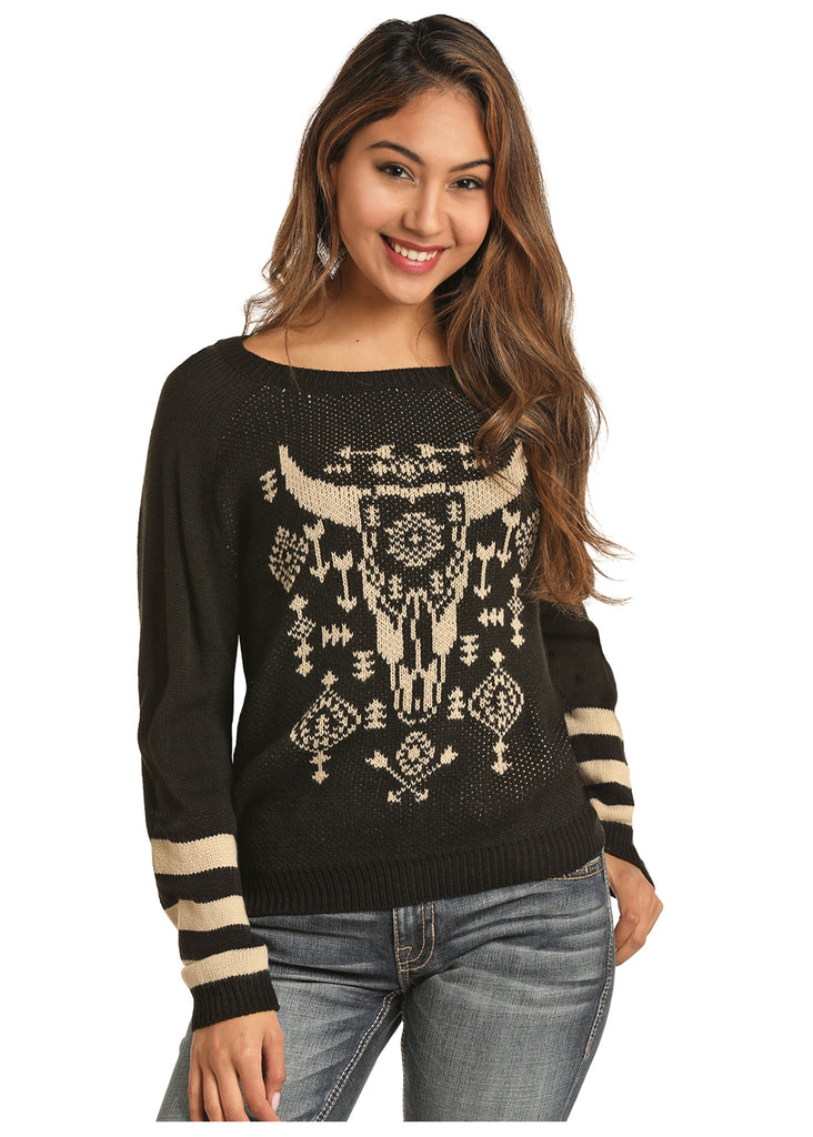 Women's Rock & Roll Cowgirl Sweater #46-3144