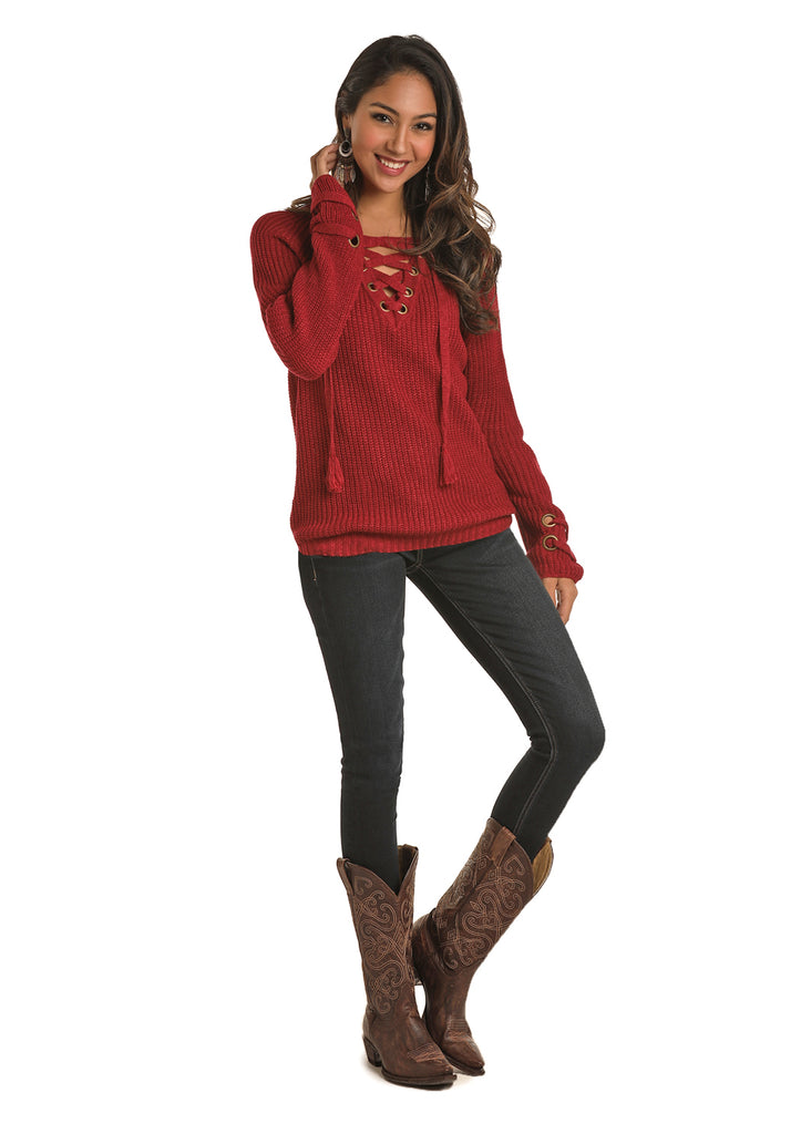 Women's Rock & Roll Cowgirl Sweater #46-6281