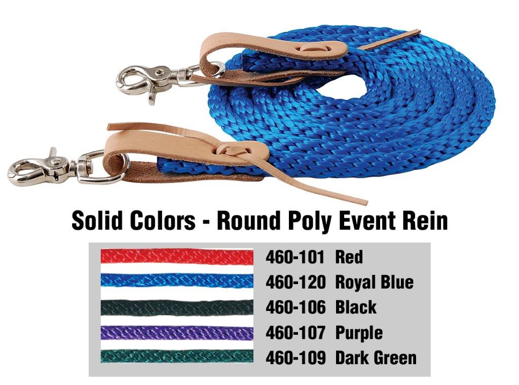 American Heritage Equine Poly Contest Reins #460