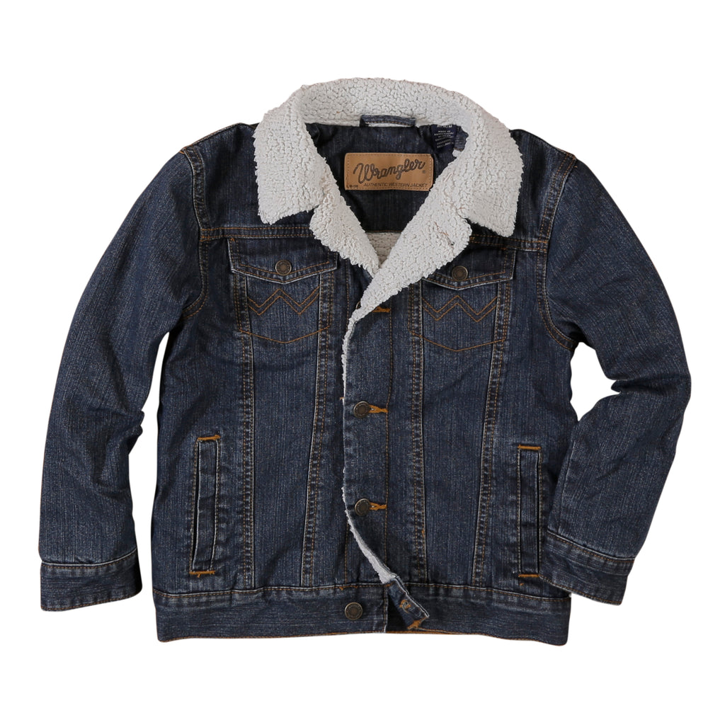 Boy's Wrangler Sherpa Lined Denim Jacket #84256RT