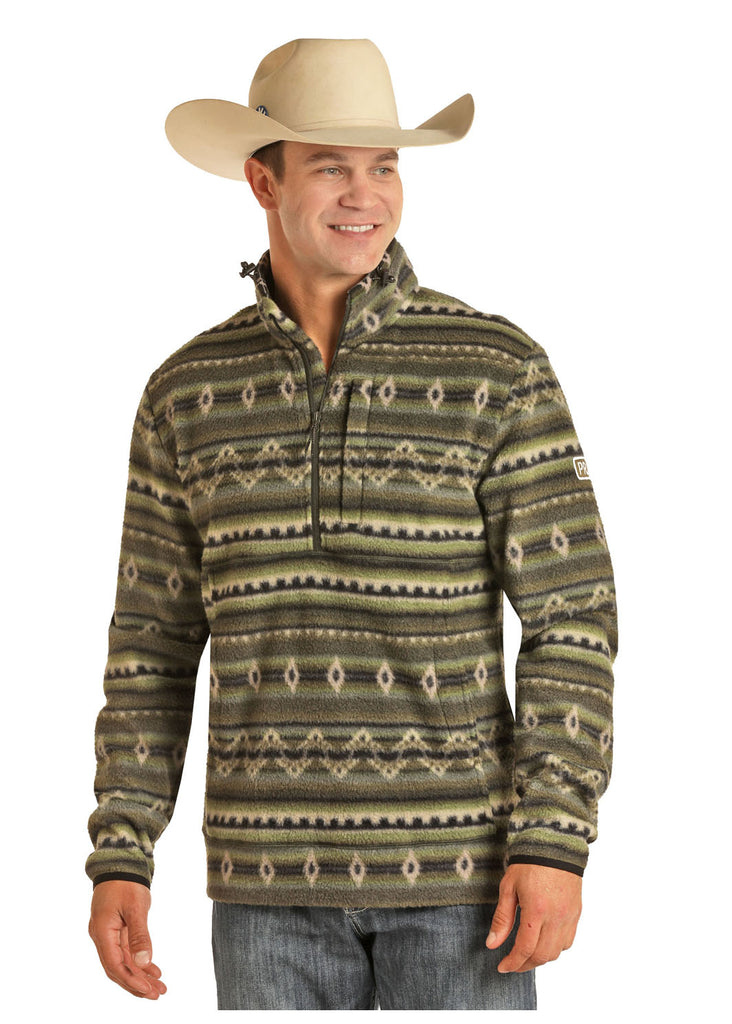 Men's Powder River Honeycomb Fleece Pullover #91-6666