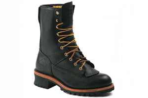 Men's Work Zone Waterproof Steel Toe Logger Work Boot #S950BLK