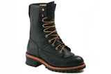 Men's Work Zone Waterproof Logger Work Boot #N950BLK