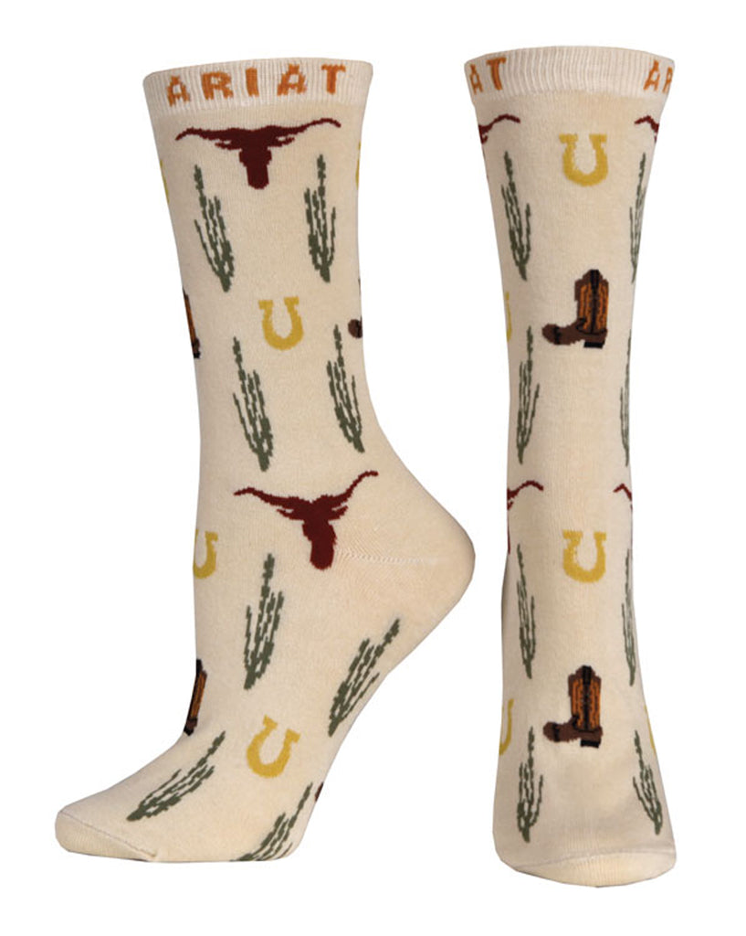 Women's Ariat Crew Socks #A10010371