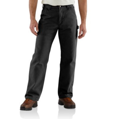 Men's Carhartt Dungaree Flannel Lined Work Pant #B111BLK