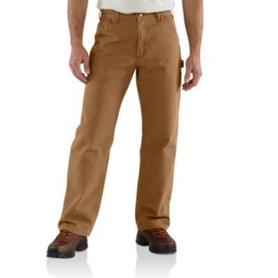 Men's Carhartt Dungaree Flannel Lined Work Pant #B111BRN