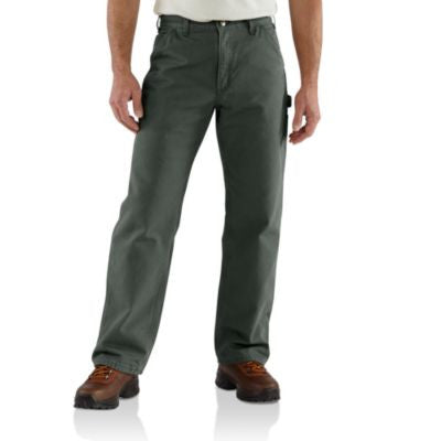Men's Carhartt Dungaree Flannel Lined Work Pant #B111MOS