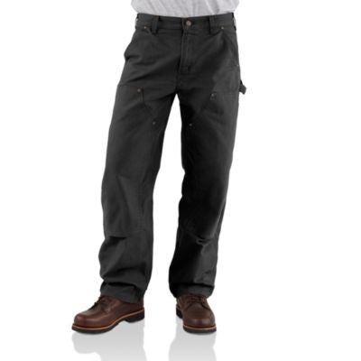 Men's Carhartt Double Front Work Dunagree Pant #B136BLK