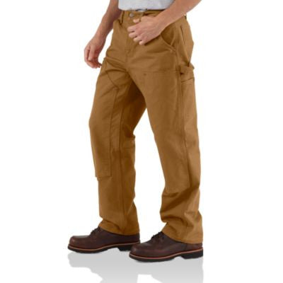 Men's Carhartt Double Front Work Dungaree Pant #B136BRN