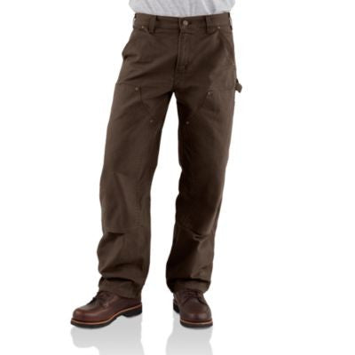 Men's Carhartt Double Front Work Dungaree Pant #B136DKB
