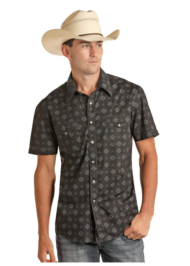 Men's Rock & Roll Cowboy Snap Front Shirt #B1S5091