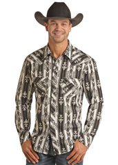 Men's Rock & Roll Cowboy Snap Front Shirt #B2S6578