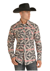 Men's Rock & Roll Cowboy Snap Front Shirt #B2S7057