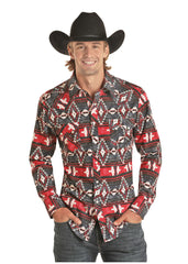 Men's Rock & Roll Cowboy Snap Front Shirt #B2S7068