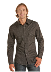 Men's Rock & Roll Cowboy Snap Front Shirt #B2S7070