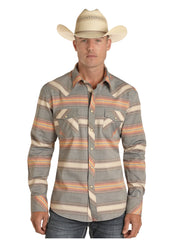 Men's Rock & Roll Cowboy Snap Front Shirt #B2S8112