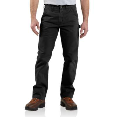 Men's Carhartt Washed Twill Dungaree Pant #B324BLK
