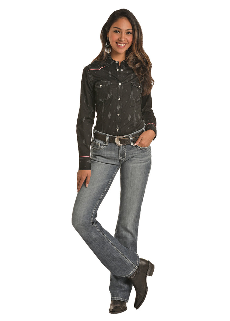Women's Rock & Roll Cowgirl Snap Front Shirt #B4S6580