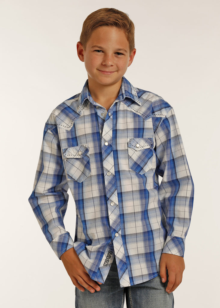 Boy's Rock & Roll Cowboy Snap Front Shirt #B8S2061