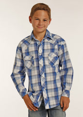 Boy's Rock & Roll Cowboy Snap Front Shirt #B8S2061-C
