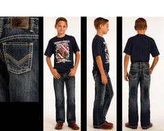 Boy's Rock & Roll Cowboy Double Barrel Jean #BB-2419 (7-16)