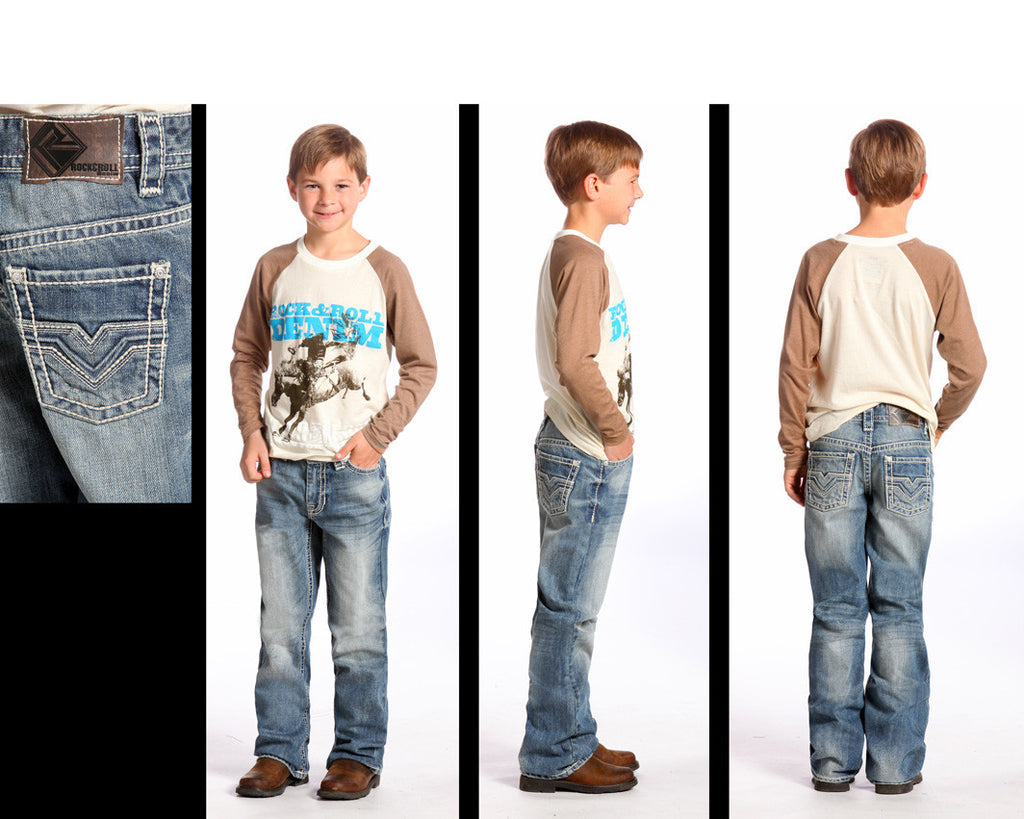 Boy's Rock & Roll Cowboy Jean #BB-5526 (7-16)