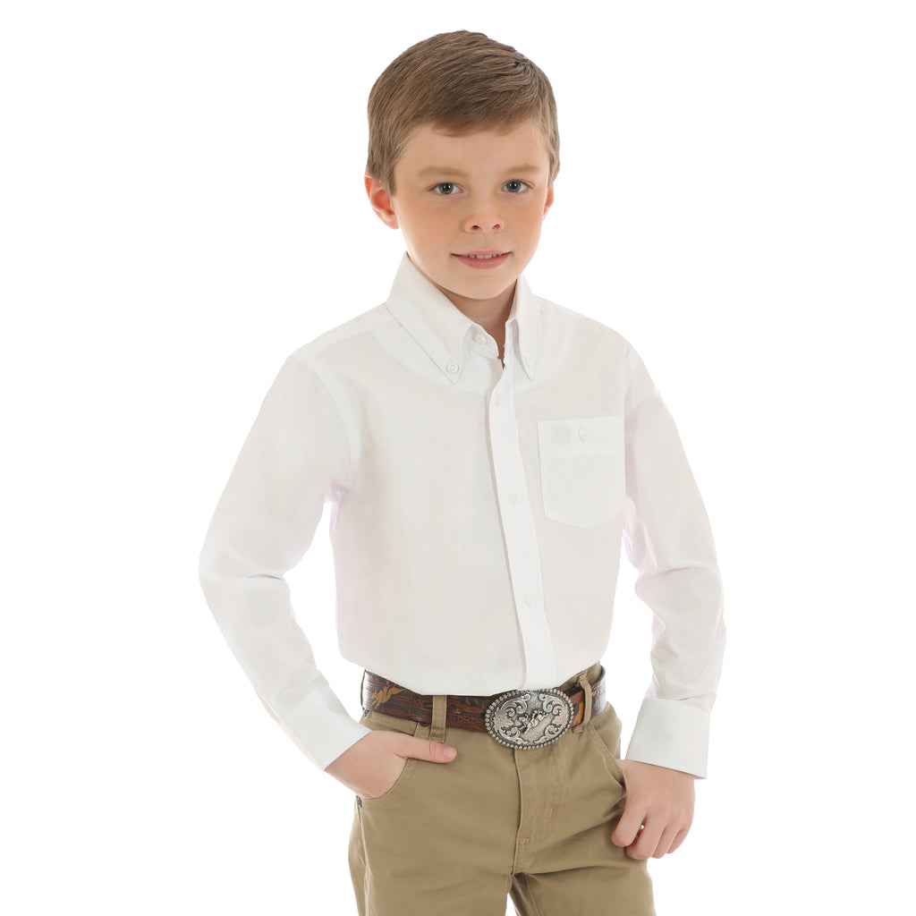 Boy's Wrangler Button Down Shirt #BG268WH