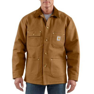 Men's Carhartt Lined Chore Coat #C001BRN (Big and Tall)