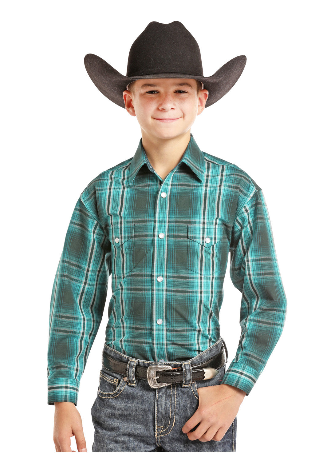 Boy's Panhandle Snap Front Western Shirt #C0S7710-C