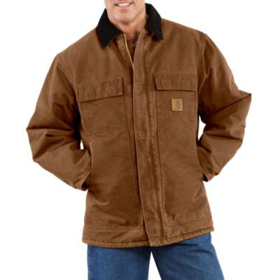 Men's Carhartt Arctic Quilt Lined Sandstone Traditional Coat #C26-211