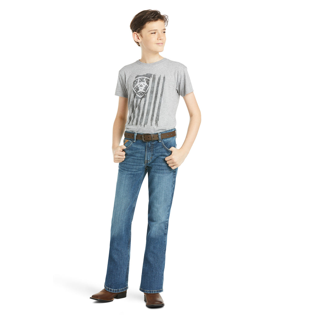 Boy's Ariat B4 Relaxed Stretch Legacy Boot Cut Jean #10023446