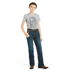 Boy's Ariat B4 Relaxed Stretch Legacy Boot Cut Jean #10027675