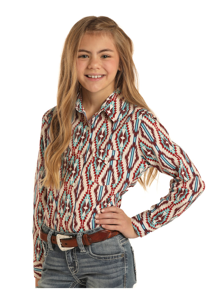 Girl's Rock and Roll Cowgirl Snap Front Shirt #G4S5086